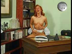 Mature redhead bitch rammed hard by her doctor