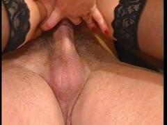 Horny brunette got pussy drilled