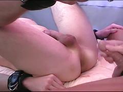Cock loving sweet hunks enjoying hardcore hole wrecking session
