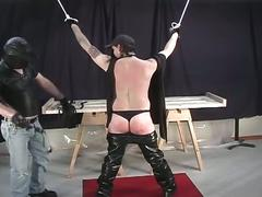 Horny pig daddy tied and enjoys hardcore torturing fun