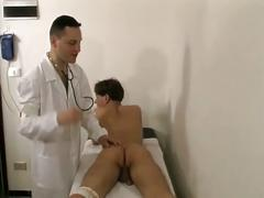 Horny doctor fucking hot young twink ass instead of examining