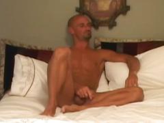 Bald horny dude wants his dick pleased