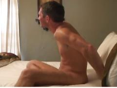 Two hot hunks fucking hard and bareback