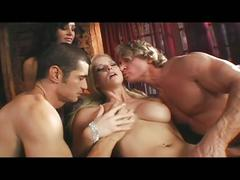 Fervent desires fulfilled with busty blonde babe