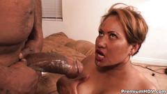 Mature lady fucked in the ass by a big black cock