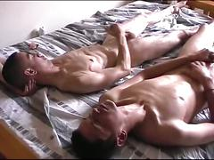 Horny gay couple gives it all out