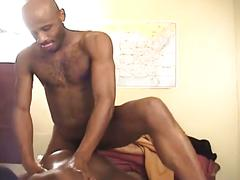 Monster black cocks colliding in one hot anal pumping session
