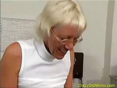 Horny granny prefers young fresh meat