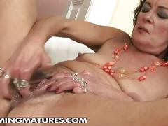 Young cuties fisting old granny on her used pussy
