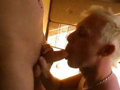 Horny young blonde twinks fucking in a camping tent