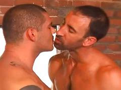 Horny dilfs fucking hard in a hot hardcore gay video