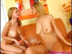 Pussy licking goodness by two blonde teens