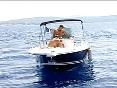 Furious outdoor anal whacking on the yacht with hot muscled hunks