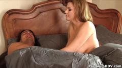 Sara stone enjoying morning wood