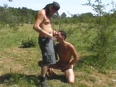 Randy dudes limitless fuck outdoors
