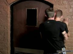 Horny twink get his ass fucked hardcore by his friend in a basement