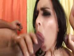 Lacey cruz covered with cum