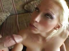Blonde busty momma crazy over sweet young spunk
