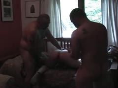 Horny daddies filthy threesome cock sucking threesome show