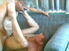 Hot muscled gay daddies enjoying hardcore tight ass drilling
