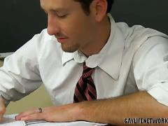 Horny teacher student twinks dean holland &amp; danny brooks class fuck