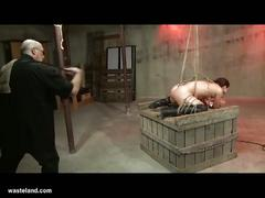 Bound brunette babe tortured to the extremes