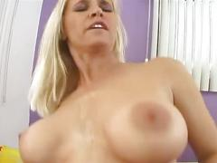 Blonde bitch hardcore oral fuck action