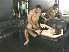 Sexy chick stuffed by black dick