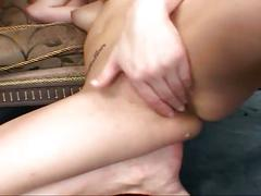 Cock-loving babe gets drilled hard