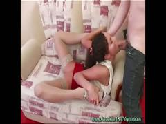 Lovely babe with super flexible body gets drilled