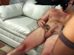 Blonde milf rides big cock