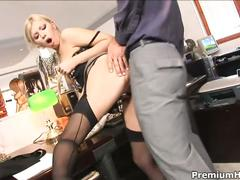 Office bitch donna bell gets nailed on the desk