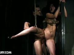 Brunette lexy little is a bloody sex slave