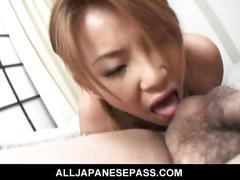Busty japanese babe for hairy cock