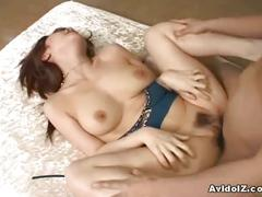 Japanese babe in a hot threesome