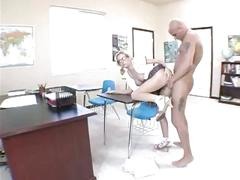 Busty schoolgirl hillary scott in non-stop pussy ramming