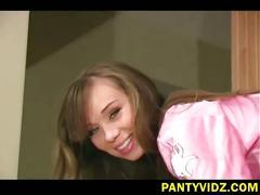 Sexy slut in her pink undy