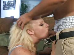 Hot blonde fucked by massive cock