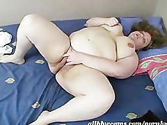 Giant pussy rubbing bbw style
