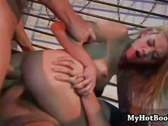 Chloe delaure is in a mmf  hardcore threesome  in