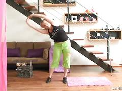 Lucy rose shows keep fit routine