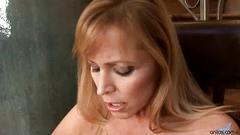 milf, big tits, blonde, blowjob, hardcore, big boobs, shaved pussy, long hair, big areolas, natural, granny