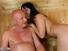 Fucking chanel in the sauna