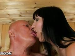 brunette, creampie, old & young, pornstar, chanel, black hair, old man young woman, pussy creampie