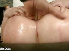 Isabella clark opens her wide asshole for two cocks