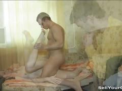 Masha drilled hard in front of her bf