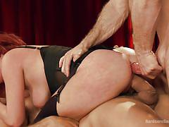 Redhead getsh her holes filled