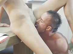 Babe fucked at work