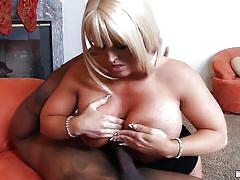 milf, blonde, interracial, busty, black cock, balls sucking, boob job, cock stroking, milfs like it black, mofos network, alura jenson