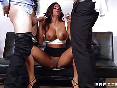 milf, tattoo, threesome, deepthroat, masturbation, office, busty, hand job, fuck from behind, big tits at work, brazzers network, danny mountain, keiran lee, alexa pierce